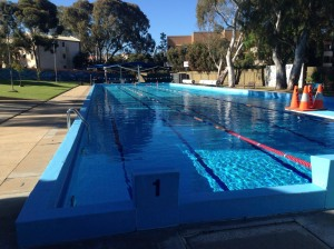 This is the OLDEST community swimming pool in South Australia, It is 55 yards long, not 50 metres. It celebrated its 50th anniversary about 5 years ago. The water is pristine.